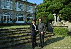 日本前首相鸠山由纪夫给武大校友发来感谢信